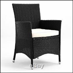 Grande Salle À Manger Set De Table De Jardin En Rotin Meubles De Patio 6 Seater Chaises Et Coussins