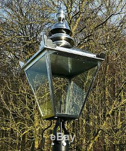 Grande Victorienne Lampe De Style Traditionnel Lampadaire Lumière Jardin En Acier Inoxydable