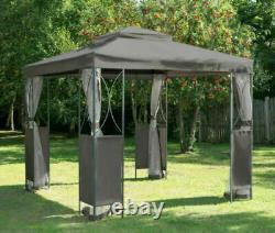 Grey Luxury Metal Framed Garden Gazebo 2.5x2.5 Original Gazebo Company