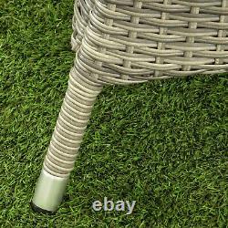 Gsd Rattan Garden Furniture Dining Set Rectangulaire 6 Seat Wicker Arizona Alu Frm