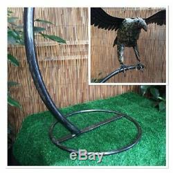 Handcrafted Métal Grand Flying Eagle Sculpture / Statue Belle / Art Jardin