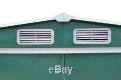 Hangar De Jardin En Métal Maison De Stockage Extérieure 4x8 6x8 8x8 8x10 Remises À Outils Avec Base