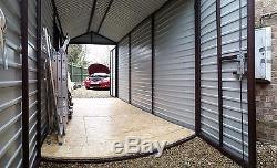 Hangar En Métal Pour Jardin Ou Garage À Motos Garage 7x14ft Stockage Sécurisé De Vélo 2x4m Toutes Les Tailles
