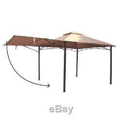 Havana Gazebo En Métal Avec Chapiteau De Canopy Auvent Abri Pour Le Jardin / Patio