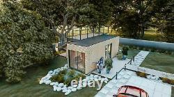 Hc35 Conteneur D'expédition Converti Jardin Maison Bureau Maison De Vacances Sauna