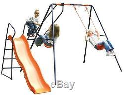 Hedstrom Saturn Kids Childs Swing Toboggan De Glissière De Jeu De Jardin Multijoueur