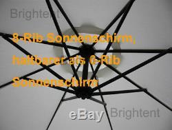 Jardin 3m Cantilever Parasol Hanging Parasol Bistro Sun Canopy Ku30c