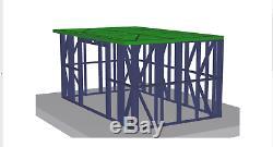 Jardin Construction Métallique Cadre 5m X 3m Shed Atelier D'été Maison Pièce En Acier