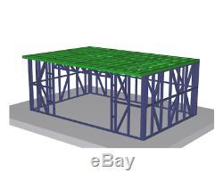 Jardin Construction Métallique Cadre 6m X 4m Shed Atelier D'été Maison Chambre Acier