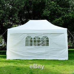 Jardin De 4.5x3m Sautent L'auvent De Tente De Fête De Chapiteau De Belvédère Blanc Résistant