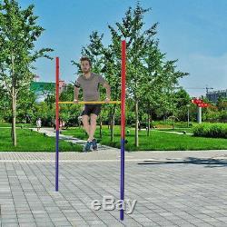 Jardin De Terrain De Jeu De Tuyau En Métal De Barre Élevée De Gymnastique Horizontale Réglable Et Robuste