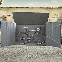 Jardin En Acier Galvanisé Métal Shed Vélo Rangementplomberie Shed Extérieur Boîte De Vélos