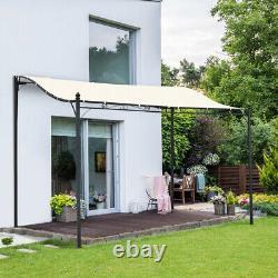 Jardin En Métal Gazebo Canopy Sun Shade Patio Pergola Porch Shelter Pavilion Auvent