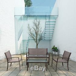 Jardin Et Meubles De Patio Glass Set Table Et Chaises Set Extérieur / Intérieur Salle À Manger