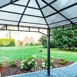 Jardin Gazebo 3x4m Gris Perdoit Couvert Ombre Jardin Tente Extérieure Imperméable À L'eau