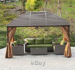 Jardin Gazebo Canopy Bain À Remous Pergola Grand Structure Aluminium Abri Patio