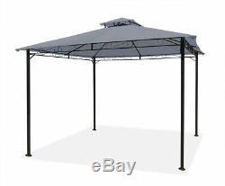 Jardin Gazebo Gris Party Abri Patio Extérieur Ombre Sun Canopy 3m X 3m