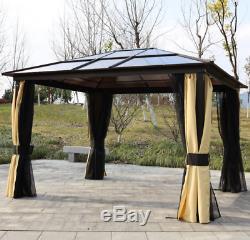 Jardin Gazebo Led Canopy Solaire Light Large Structure Métallique Bain À Remous Abri Patio