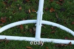 Jardin Hanging Chair Hammocks Swing Egg Chair Pole Frame Stand White