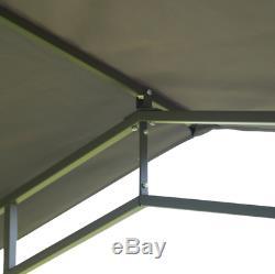 Jardin Métal Gazebo Patio Extérieur Structure Auvent Tente Canopy Chapiteau Pare-soleil