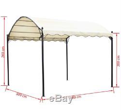 Jardin Structure Pergola Extérieur Canopy Couverture Toit Ombre Patio Gazebo Voiture Port