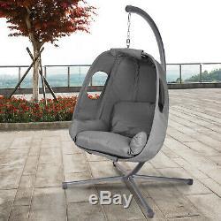 Jardin Suspendu Egg Chair Patio Balançoire Extérieur Hamac Lounger Meubles En Rotin