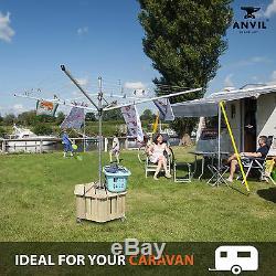 Jardin Vêtements Rotary Base Lavante Ligne Non Vis Métal Pointe Sol Sol Lance