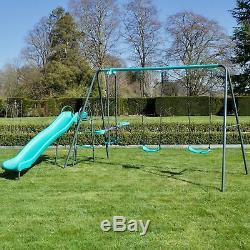 Jeu De Balançoires De Jardin En Métal Rebo Pour Enfants