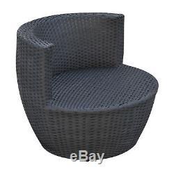 La Chaise Empilable Par Vase De Meubles De Jardin De Rotin De Jardin Extérieur A Placé 3 Pcs 2 Couleurs