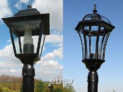 Lampe De Jardin Traditionnelle Ou Victorienne Lumières De Poste Éclairage Simple Double Triple