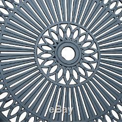 Le Café En Aluminium A Placé La Table Et La Chaise 3pc De Patio De Meubles De Jardin Moulées En Noir