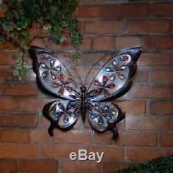 Le Jardin Lumineux Solaire De Papillon En Métal De Lumière De Led Orne Le Mur De Décoration