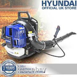 Leaf Blower Garden Sac À Dos Petrol 2 Stroke Engine 52cc Puissant Hyundai