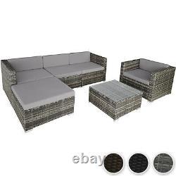 Luxe Poly Rattan Garden Furniture Sofa Set Wicker Outdoor Sofa Chair Table