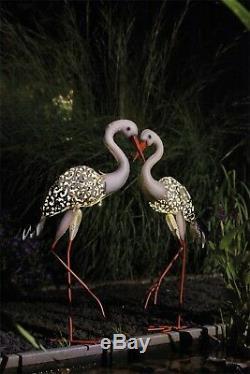Luxform Jardin Et Extérieur Éclairage Solaire En Métal Lumière Statue Ornement Cigogne Oiseau