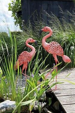 Luxform Jardin Et Extérieur Éclairage Solaire En Métal Lumière Statue Ornement Flamingo