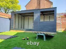 Maison D'été / Bureau De Jardin 19x11ft Travail De La Maison Bâtiment N'importe Quelle Taille Faite