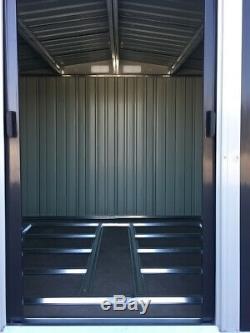 Maison De Stockage Extérieure En Métal De Hangar D'outil De Jardin De 8x6ft A Galvanisé L'acier + La Fondation