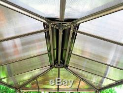 Martinique Gazebo Permanent Extérieur Jardin Canopy Gris