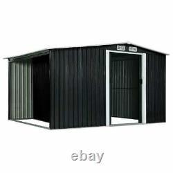 Meilleur! Hangar De Jardin Avec Les Portes Coulissantes Anthracite Steel Outdoor Storage House