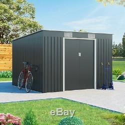 Métal Abri De Jardin Stockage Cargo Pent Galvanisé Extérieur Robuste En Acier Shed