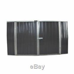 Métal De Stockage Noir De Jardin De Hangar De Vélo Noir En Acier Galvanisé De Maison À La Maison De Hangar À Outils