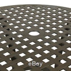 Métal En Aluminium Moulé Par Patio De 5 Morceaux De Patio De Meubles De Jardin Réglé Avec Des Coussins