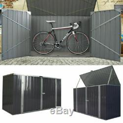 Métal Grand Galvanisées De Stockage Abri De Jardin Outils Unité Vélo De Vélos Magasin New