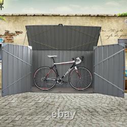 Métal Grand Galvanisées De Stockage Abri De Jardin Outils Unité Vélo Vélo Boutique