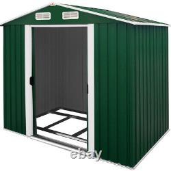 Metal Tool Shed Garden Storage 8x6ft Apex House Conteneur Extérieur Grand Triage Nouveau