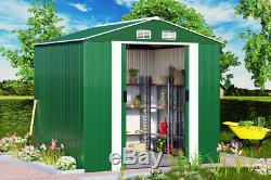 Metal Tool Shed Jardin Stockage 8x6ft Apex Maison D'extérieur Container Grande Cour Nouveau