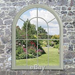 Miroir De Jardin Lancaster En Vert De Suntime, Cadre En Métal Classique