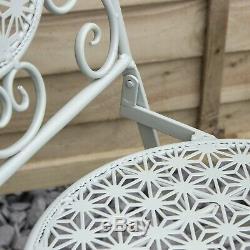 Mosaic Bistro Métal Set 2 Seater Table Et Chaises Pour Patio / Jardin / Repas En Plein Air