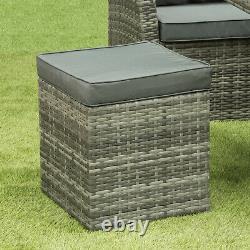 Nevada 10 Siège En Rotin En Osier De Luxe Canapé D'angle Set Chaise De Jardin Meubles De Patio